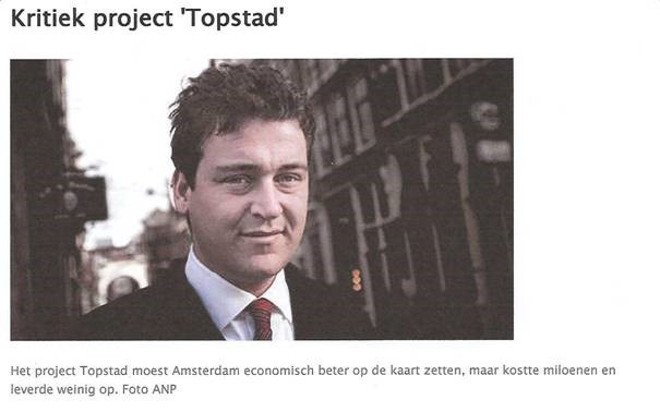Kritiek project 'Topstad'