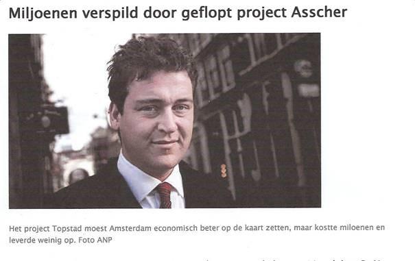 Miljoenen verspild door geflopt project Asscher