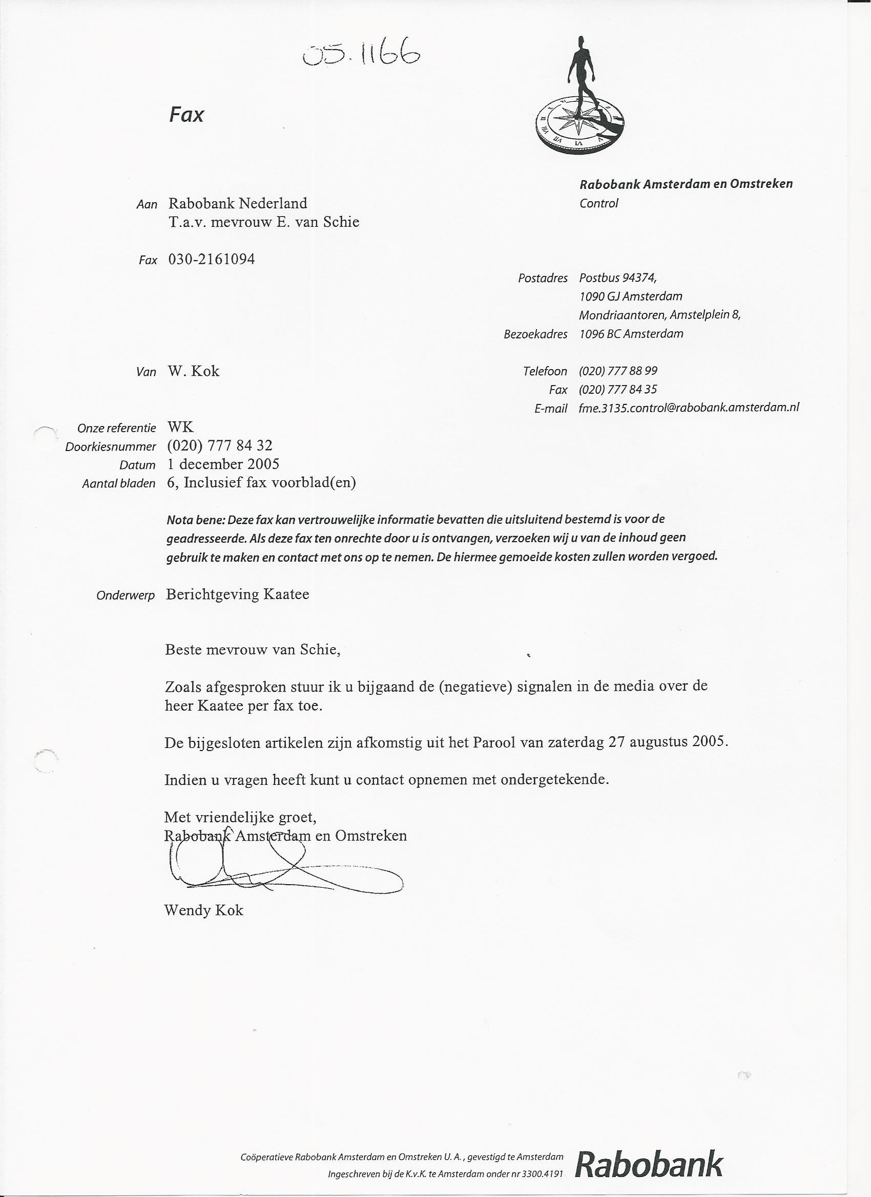 nederlandse brief zakelijk