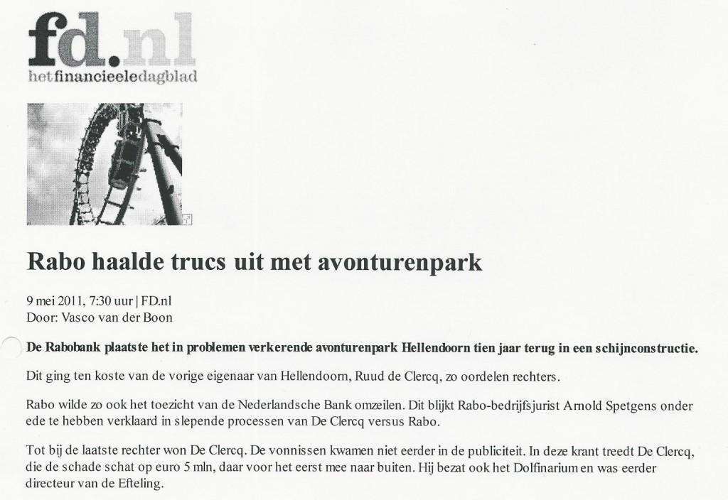 Rabo haalde trucs uit met avonturenpark (FD 9-5-2011)
